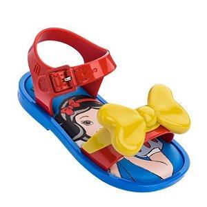 Mini Melissa Mar Sandal + Snow White Azul/Amarelo/Vermelho