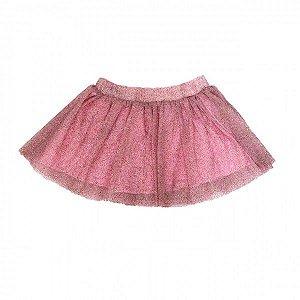 Saia Tutu Glitter Rosa - Tamanho 1
