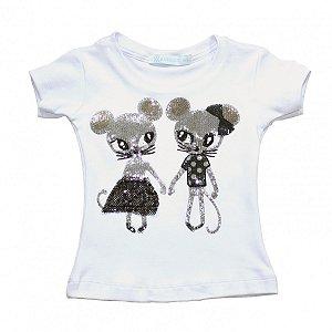 Baby Look Ratinhas - Tam 1 a 6