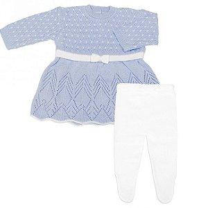Conjunto Saída de Maternidade 2 peças Versailles - Vestido e Meia
