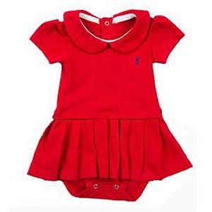 Vestido Body Piquet - Baby Girl Smooth - Vermelho