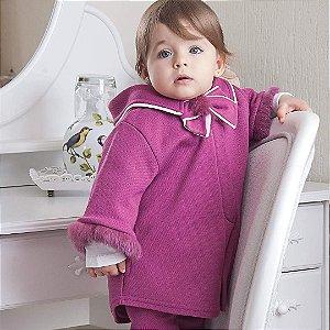 Capa Infantil Pele Magenta - Tamanho M a 3