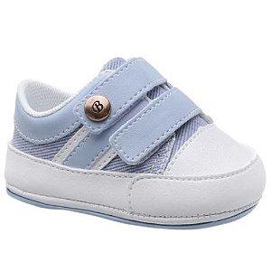 Tênis Bebê Masculino - Velcro - Cor Azul Claro
