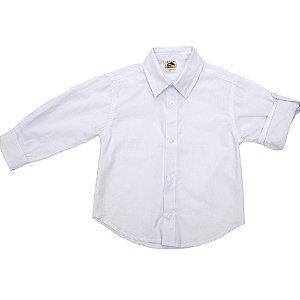 Camisa Manga Longa Branca - Tam 1 a 10