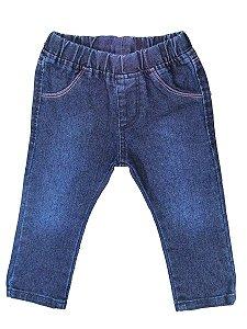 Calça Jeans Infantil Feminina - Modelo Stretch - Tamanho P ao 4