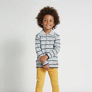 Blusão Infantil Tricô - Malharia Bebelândia - Polo Cinza