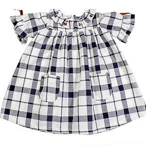 Vestido para Bebê Xadrez com Bolsos  - Roana - Tam P a GG