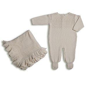 Macacão Saída de Maternidade Pérolas - 100% algodão