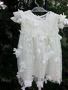 Vestido Flor 3D - 6 a 12 meses
