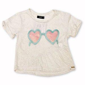 Camiseta Infantil Óculos - Tamanho 2 a 8