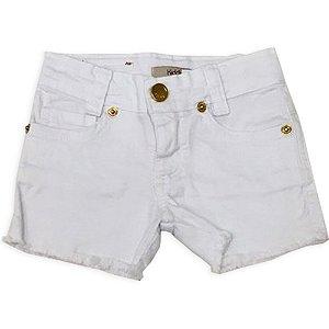 Shorts Branco Jeans Meninas - Tam 2 ao 8
