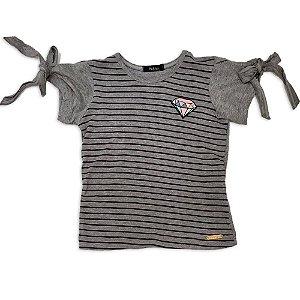 Tshirt Cinza - Tam 2 ao 6