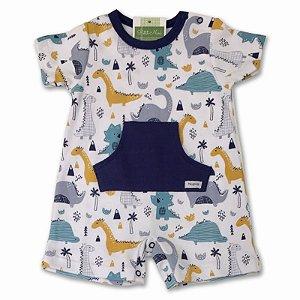 Macacão Curto para Bebê Dino - Piu Piu - Tam P a GG