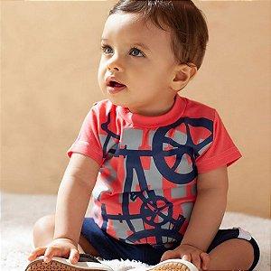 Conjunto Infantil Masculino Shorts e Camiseta Bike - Piu Piu - Tam P a 1