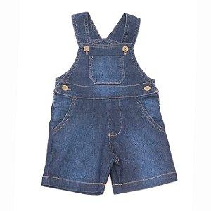 Jardineira Infantil Jeans - Tam M ao 3