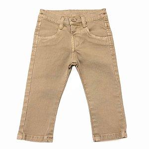 Calça Infantil Sarja Masculina Cáqui - Tamanho M a 3