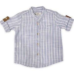 Camisa Infantil Masculina Azul - Manga Curta - Tamanhos G a 6