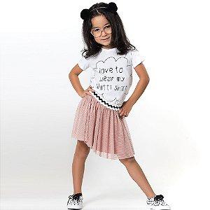 Saia Tutu Infantil Rose - Tamanho GG ao 6