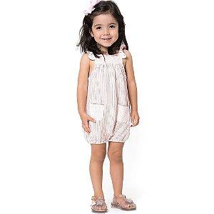 Macaquinho Feminino Bebê Listras e Dots - Tamanhos P ao 1