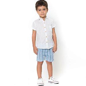 Camisa Bata Branca Infantil - Tamanho G ao 6