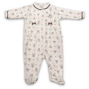 Macacão para Bebê estampa Castelo - Algodão Egípcio - Tam P a G