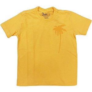 T-shirt Infantil Masculina Coqueiro Amarela - Tamanho 1 a 8