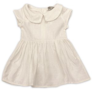 Vestido Jacquard Cru - Tamanhos 0 a 6 anos