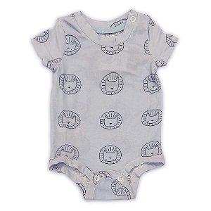 Body Basic Bebê Estampado Leão - Tamanho 0 a 18 meses