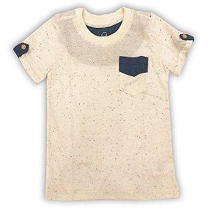 Camiseta Masculina Infantil Pais de Gales Bolso Azul - Tamanho 1 a 6 anos