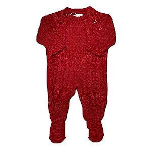 Macacão Saída de Maternidade Tranças Lyon Vermelho