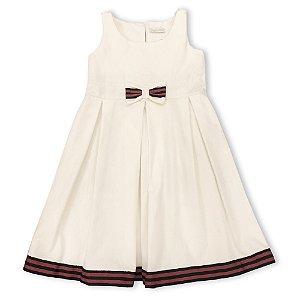 Vestido Infantil Festa Laço Branco
