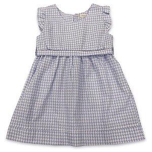 Vestido Infantil Cinto Azul - Tam G e 6