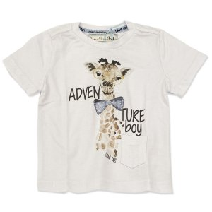 Camiseta Infantil Estampa Girafa - Tam P ao 6