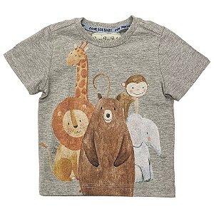 Camiseta Infantil Estampa Animais - Tam P ao 3