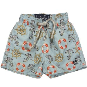 Shorts Infantil Nylon Estampa Âncoras