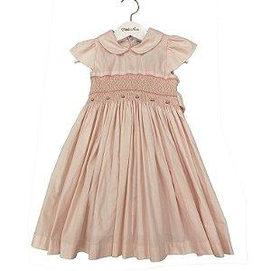 Vestido Tricoline Casinha de Abelha - Tamanho 2