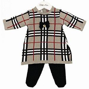 Vestido Saída Maternidade Xadrez Rolex Tamanho RN