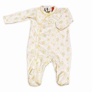 Macacão para Bebê Estampa Patinhos  - algodão egípcio - tam P