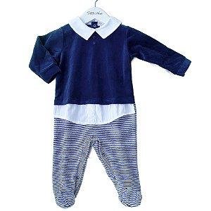 Macacão para Bebê Suéter Marinho  - Plush - tam P a G