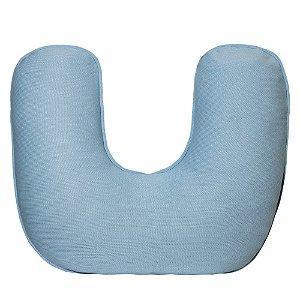 Almofada de Amamentação em Tricô Azul Bebê