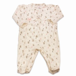 Macacão para Bebê Estampa Ursinho e Balão - Algodão Egípcio - Tam RN ao M