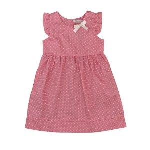Vestido Infantil Poá Rosa