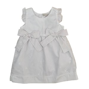 Vestido Infantil Laços Branco