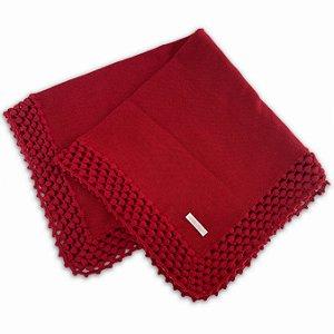 Manta de Tricô Pipoquinha Vermelha