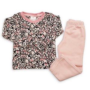 Conjunto Pijama Soft para Meninas - Estampa Panda - Tamanhos 1 ao 8
