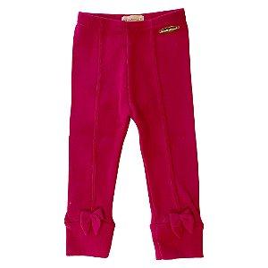 Calça Legging Infantil Montaria Pink