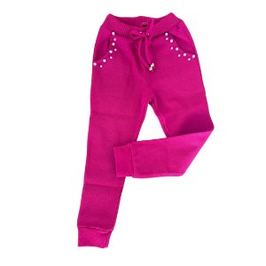 Calça Moletom Infantil Pink - Bebelândia
