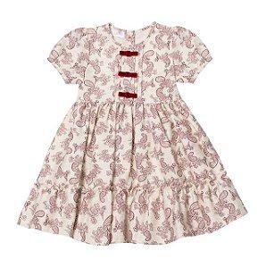 Vestido Infantil Linho Arabesco