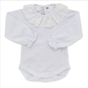Body Infantil - 100% Algodão - Gola Babado