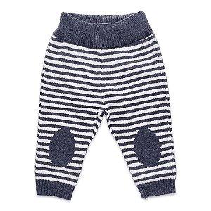 Calça Infantil de Tricô - Listras - Tam P a 1